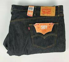 NWT Levis 501 Shrink to Fit Indigo Raw Denim Jeans sz 54 x 29 Black