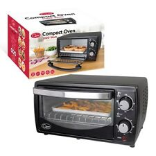 1000W MINI ELECTRIC OVEN GRILL TOASTER BLACK COUNTER TABLE TOP COMPACT CARAVAN