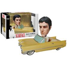 FUNKO BOBBLE CAR SCARFACE TONY MONTANA W CADILLAC WACKY WOBBLER BOBBLE HEAD CAR