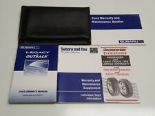 2002 SUBARU LEGACY OUTBACK OWNERS MANUAL OPERATORS USER GUIDE GT LIMITED L 2.5L