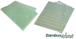 AQUA CLEAN Bambus Kristall Tücher Reinigungstücher Putztuch Microfaser 5er SET !