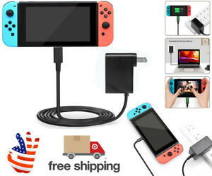 For Nintendo Switch AC Power Supply Adapter 2.4A Home Wall Travel Cable Charger