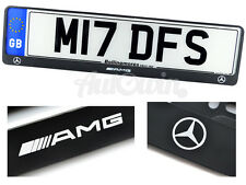 Mercedes-Benz /////AMG Logo Euro Standart License Frames Plates NEW 1pcs