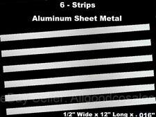 Sheet Metal Strips Aluminum 6 Pack 12 Wide X 12 Long X 016 Mill Finish