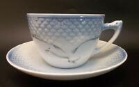 Copenhagen Denmark B&G Bing & Grondahl Seagull Porcelain Blue Tea Cup Saucer Set