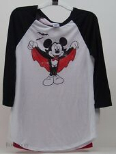 Disney Women's Juniors Mickey Mouse Vampire Graphic Cape T Shirt Size XLarge NWT