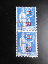 2 Timbres 90C Bleu France vers 1937/1939 / Philatélie Poste / French Stamp