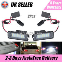 2x LED Number License Plate Light Lamp For VW GOLF MK4 MK5 MK6 MK7 Seat UK SHIP