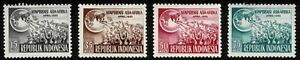 Indonesian 1955 Asian-African Conference - Complete Set Of Four Stamps - MLH