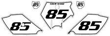 2003-2012 KTM 105 SX Custom Pre-Printed White Backgrounds Black Pinstripe