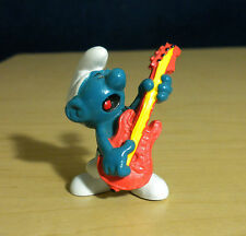 Smurfs Guitar Smurf 20023 Rock n Roll Figure Vintage PVC Toy Music Figurine Peyo