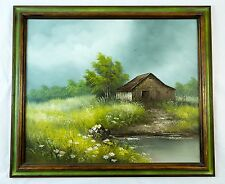 "Rare Oil on Canvas Painting ""House on the Prairie"" Signed ""Gordon Smith"" Canada"