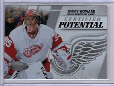 JIMMY HOWARD 10/11 Panini Certified Potential /500 HOT! Red Wings Hockey Card