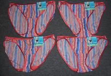 4 pairs VANITY FAIR String Bikini ILLUMINATION 18108 Panty OCEAN SUNSET - 8 / XL