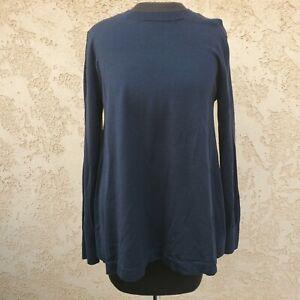 GAP MATERNITY Soft Navy Blue Merino Wool A-Line Sweater M Misses (MSRP $54.95