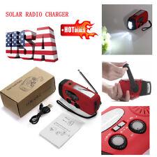 Emergency Solar Hand Crank Dynamo AM/FM/WB Radio LED Flashlight Phone Charger US
