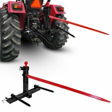 """49"""" 1 Tractor 3 Point Hay Bale Spear Trailer Hitch Receiver Cat w/Gooseneck Bal"""