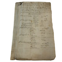 Rare 1700's Handwritten Post Medieval Manuscript Document Old Ink & Paper Latin
