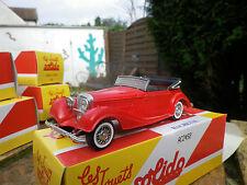 SOLIDO MERCEDES 540 K 1938 rouge mat, neuf dans sa boite collection HACHETTE