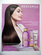 PUBLICITE-ADVERTISING :  DESSANGE Lumière Liquide  2015 Coiffure