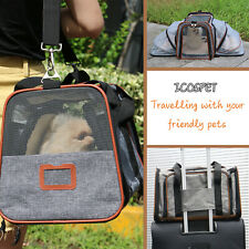 Pet Carrier Airline Approved Expandable Kennel Cat Dogs Under Seat Compatibility