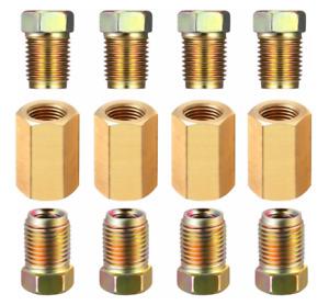 "12 Piece 3/16"" brake line (3/8-24 Inverted) Brake Line Fittings & brass Unions"