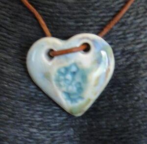 Designer Maria Of Carvalho Jewellery Pendant Ceramic Porcelain Limoges N 3