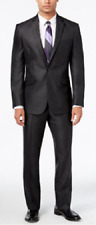 Kenneth Cole Reaction Men's Slim-Fit Charcoal Suit with Finished Pant Hem, $375