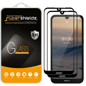2X Supershieldz Full Cover Tempered Glass Screen Protector for Nokia 1.3 (Black)