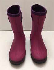 BOGS Glosh 31 Girls 1 Rain Winter Waterproof Boots 71244-652 Neoprene/Rubber GUC