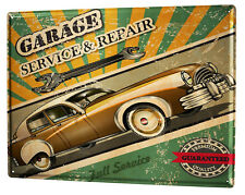 Tin Sign XXL Garage  Workshop full service Gas Stations Vintage