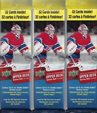 2015/16 Upper Deck Hockey Series 1 Fat Value Pack-3 Pack Lot-Poss:Connor McDavid