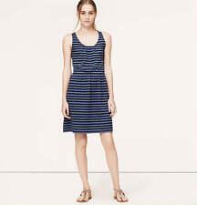 Women's Regular Striped Sleeveless Knee-Length Dresses