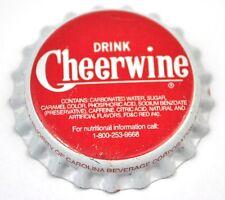 Vintage Cheerwine Soda Kronkorken USA Soda Bottle Cap Plastikdichtung