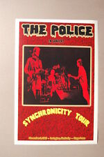 The Police Concert Tour Poster1983 Synchronicity Lexington Ky Rupp Arena