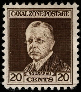 Canal Zone - 1928 - 20 Cents Dark Brown Admiral Harry Rousseau Issue # 112 Mint