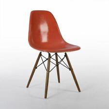 Orange Herman Miller Original Vintage Eames DSW Dining Side Shell Chair