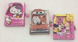 Kids Girls Boys Secret Diary Lockable Dairy Note Book Disney Minnie Cover & Keys