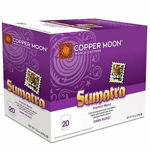 Copper Moon Sumatra Coffee 20 to 120 Keurig K cups Pick Any Size FREE SHIPPING