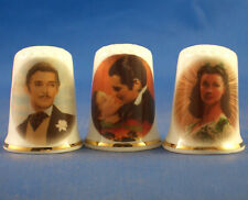 Birchcroft Thimbles -- Set of Three -- Gone with the Wind