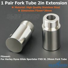 Stainless Steel 39mm Fork Tube 2in Extensions For Harley Sportster XL 883 1200