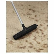 "Rubber Bristled Broom Long Handled Squeegee & Scrubber Pet Hair Removal 11"" Head"