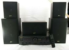 New listing Zenith Z711B A/V Dolby ProLogic Surround 5.1 Amplifier Receiver w/ 5 Speakers T5