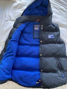 Superdry Mens Fleece Lined Padded Gilet Bodywarmer UK L