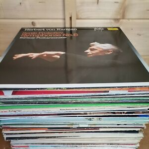 """STARTER CLASSICAL ORCHESTRAL RECORD COLLECTION 8 X 12"""" VINYL RECORDS FREE P&P"""