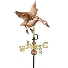 Good Directions Landing Duck Weathervane Polished Copper w/Garden Pole 804Pg
