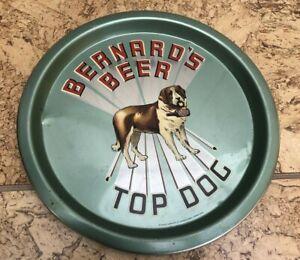 Bernard's beer top dog British beer advertising tray England nice shape vintage