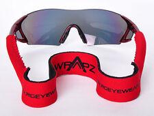 Wrapz Galleggiante Neoprene Occhiali Da Sole Cinturino Testa Banda 45cm Rosso Cinturino Solo