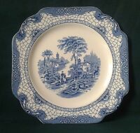 ADAMS LANDSCAPE PLATE ART NOUVEAU IRONSTONE STARTER SALAD LUNCHEON PLATE BLUE