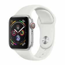 Apple Watch Series 4 44 mm Silver Aluminum Case with White Sport Band (Gps +.